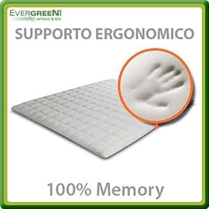 Topper Cover Mind colchón soporte ergonómico de Memory, plaza doble 140x190 cm