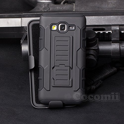 Cover Ace (Galaxy J1 Ace Case, Cocomii Robot Armor NEW [Heavy Duty] Premium Belt Clip Holster Kickstand Shockproof Hard Bumper [Military Defender] Full Body Dual Layer Rugged Cover For Samsung J110 J111 (Black))