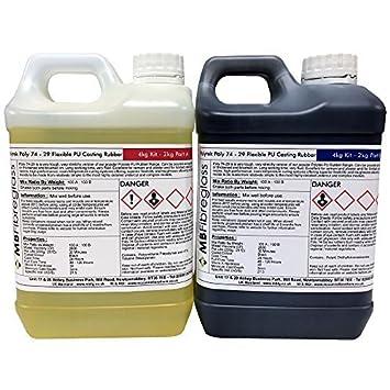Polycraft polialgodón 74 - 29 de goma de poliuretano flexible para hormigón fundición - 4 kg Kit: Amazon.es: Bricolaje y herramientas