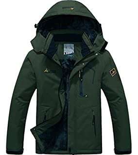 6b4ed5461e7 XinDao Mens Winter Fleece Hooded Mountain Fleece Ski Windproof Rain Jacket  Snow Coat Mountain Jacket Outwear