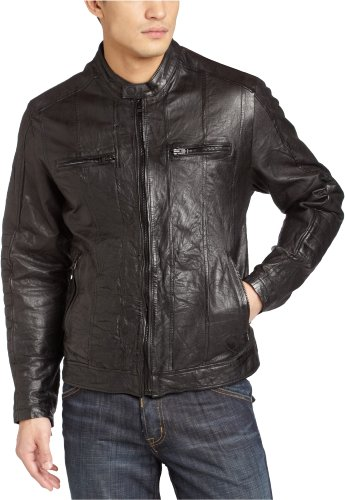 Levis Mens Leather Motorcross Jacket