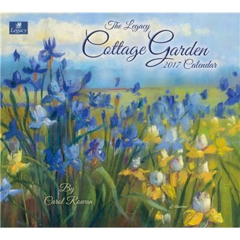 2017 Cottage Garden Wall Calendar - Legacy {jg} Great Holiday Gift Ideas - for mom, dad, sister, brother, grandparents, gay, lgbtq, grandchildren, grandma.