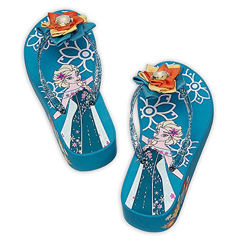 Disney Store Girls Elsa - Frozen - Blue High Life Platform Flip Flops