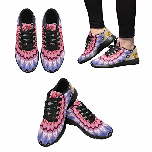 Scarpe Da Trail Running Da Donna Interesse Jogging Leggero Sportivo Da Passeggio Sneaker Da Ginnastica Astratto Mandala Fiore Luminoso Multi 1