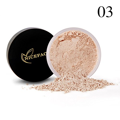 Review Binglinghua Free Oil-Control Loose Powder 24 Hour Long Lasting Professional Brightening and Smooth Skin Highlighting Face Loose Finishing Powder Translucent (3#)