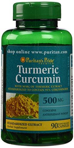2 Pack of Turmeric Curcumin 500 mg Puritan's Pride Turmeric Curcumin - 90 Capsules