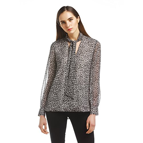 Stand Collar Blouse Designs Images : Maxdesign women s long sleeve stand collar bow blouse