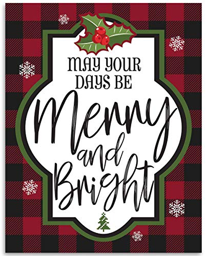 May Your Days Be Merry - 11x14 Unframed Art Print - Makes a Great Gift Under $15 for Christmas Decor (May Your Days Be Merry And Bright)