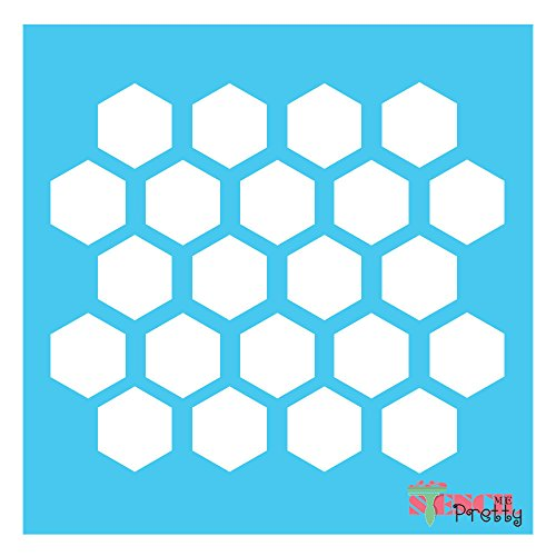 Multi Size Options - Honeycomb Stencil template DIY honey comb arts and crafts (1