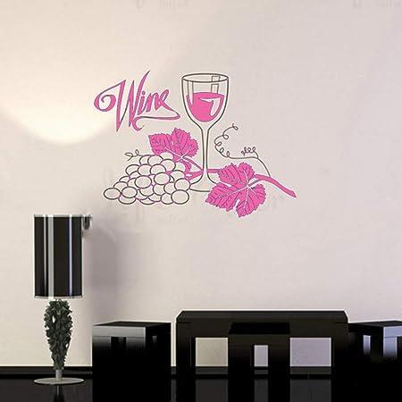 Uvas de Vino Vinilo Tatuajes de Pared Cocina Restaurante ...