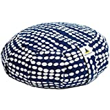 Yoga Meditation Cushion Zafu Pillow Buckwheat Adjustable Fill, 6 Designs, Eco-Conscious, Washable Cover
