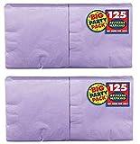 Amscan Big Party Pack 250 Count Beverage Napkins, Lavender