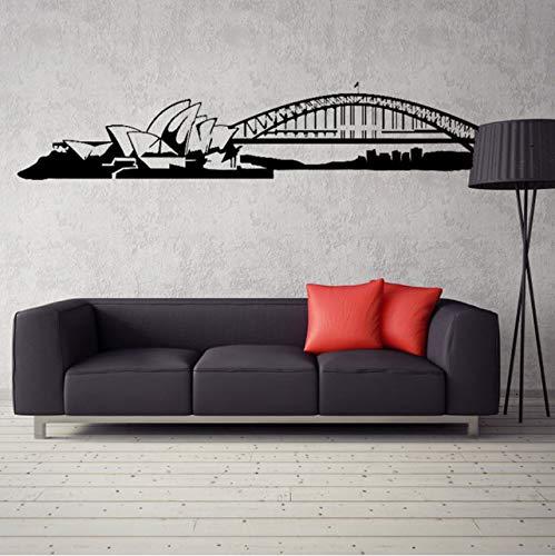 fushoulu Sydney Skyline Wall Decal Sticker Vinyl Mural Bedroom Living Room Art Decor Australia Wallpaper