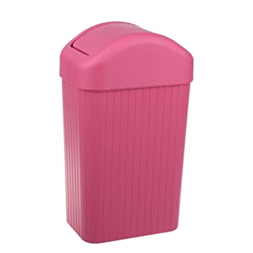 Plastic Swing Lid Trash Can Kitchen/Bathroom/Bedroom/Parlor/Office Trash Can