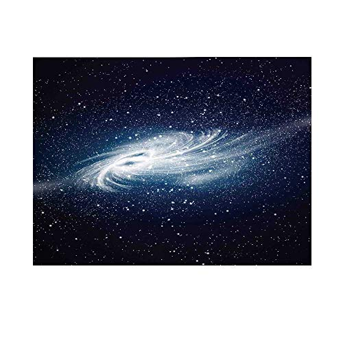 Space Decorations Photography Background,Spiral Galaxy Space and Stars Celestial Cosmos Expanse Universe Modern Print Backdrop for Studio,7x5ft
