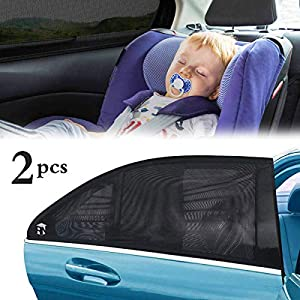 FAGORY Tendine Parasole Auto Bambini AN Traspirante Anti-Sole per Auto Parasole Finestra Laterale, Block Raggi UV Anti… 1 spesavip