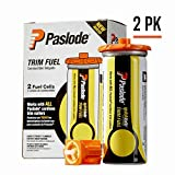 Paslode - 816007 Universal Short Yellow Trim Fuel, 2-Pack - Works with all Paslode Finish and Brad Nailers