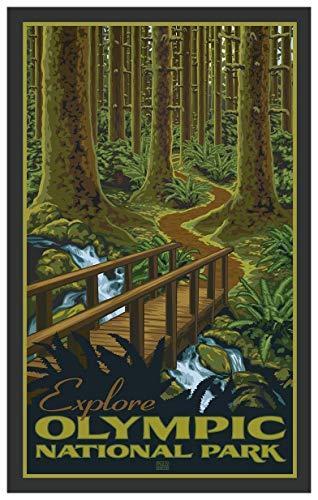 (Olympic National Parkk Travel Art Print Poster by Paul Leighton (12