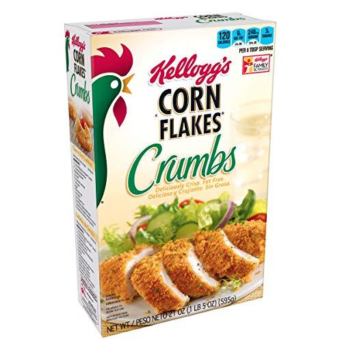 - Kellogg's, Corn Flakes Crumbs, Fat-Free, 21 oz Box(Pack of 12)