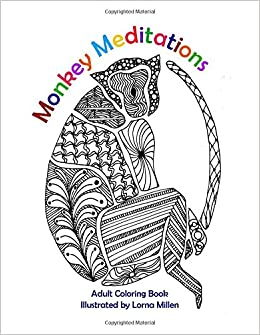 Amazon.com: Monkey Meditations: Adult Coloring Book (9781539028918 ...