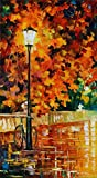 100% Hand Painted Oil Paintings Modern Abstract Oil Painting on Canvas Golden Boulevard Home Wall Decor (24X44 Inch, Oil Painting 1)