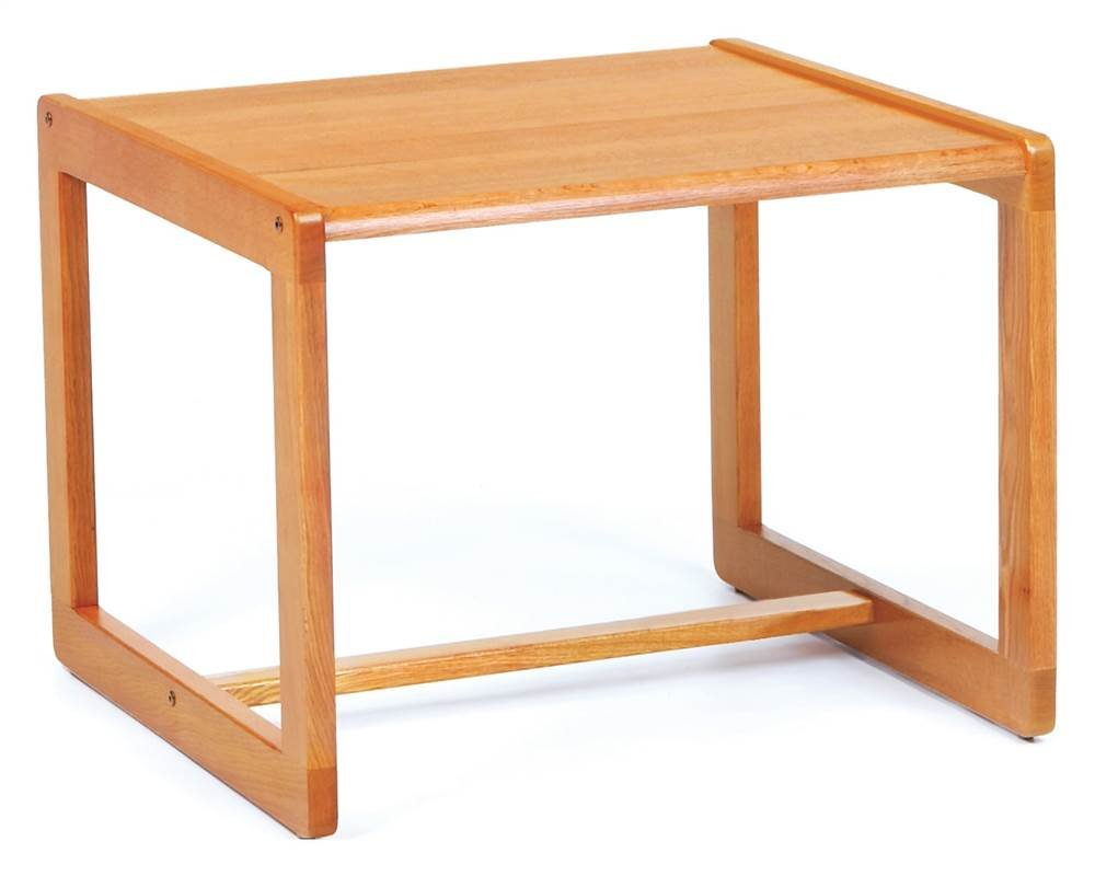 Corner Table w Sled Base - Classic (Natural)