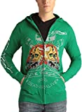 Ed Hardy Men's Tattoo Cotton Knit Zip Up Hooded Sweater