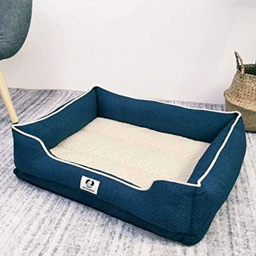 犬猫ソファベッド、 ペットの犬のベッド/猫ベッドクッションソファ/整形外科犬のベッド取り外し可能なカバー/複数のサイズ/色 (Color : Blue, Size : XL)