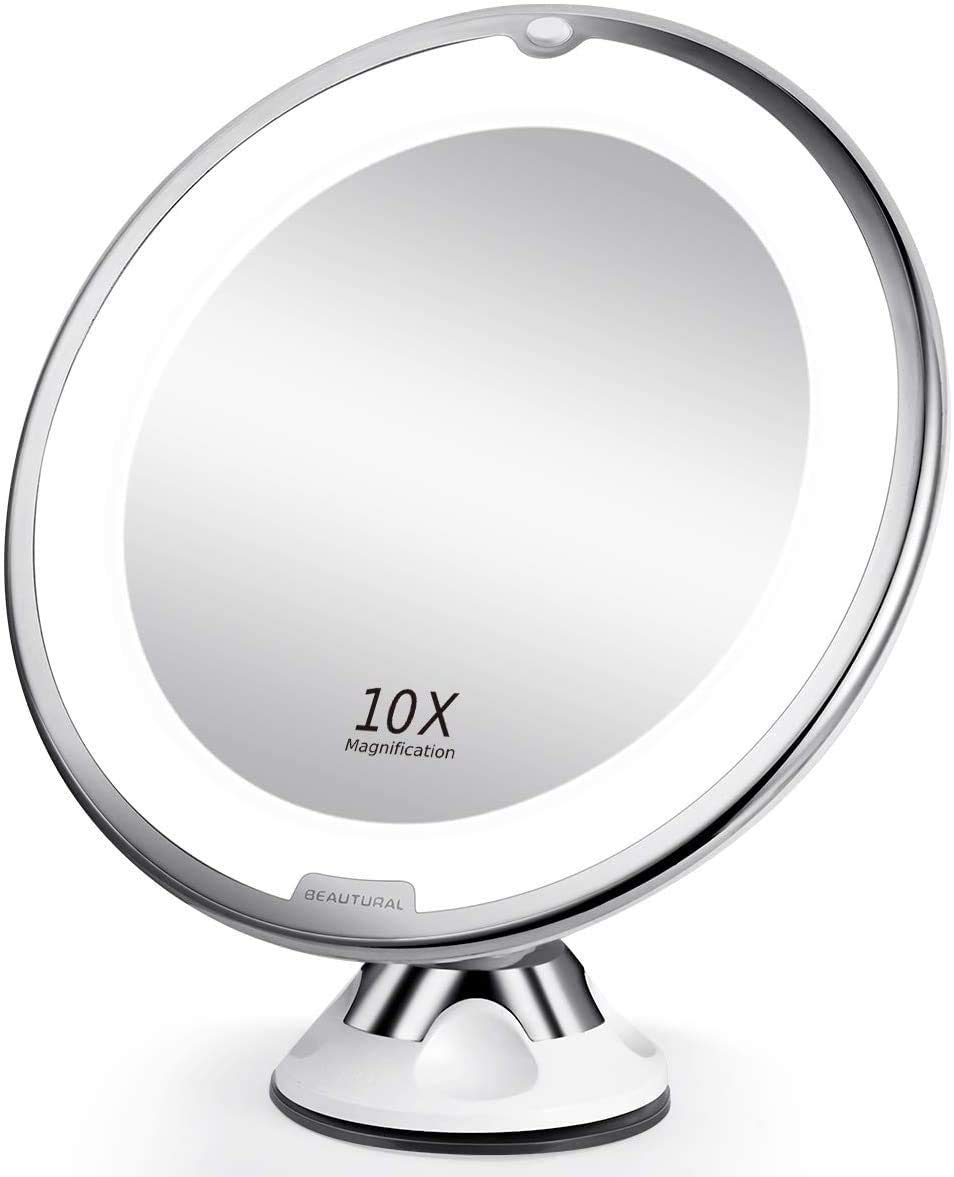 Beautural 10x Magnifying Led Lighted Makeup Mirror Beauty