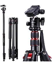 K&F Concept Trepied Appareil Photo Monopode en Aluminium 200cm avec Rotule Panoramique 360° pour Camera Camescopes Charge : 8kg