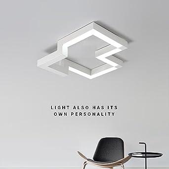 30W LED Lámpara de Techo Moderno Estilo Acrílico Blanco Colgante Candelabro Elegante Diseño Multa Cuadrado Lámpara