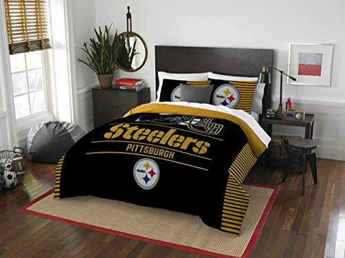 NFL Pittsburgh Steelers Draft Full/Queen Comforter and 2 Sham Set