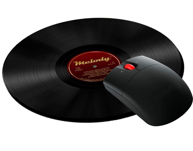 Tappetino per mouse tondo con stampa LP disco in vinile vintage