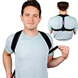 EazzyLife Adjustable Upper Back Posture Corrector Brace for Men & Women – Discreet & Easy to Wear Shoulder & Clavicle Support,Relief back And neck pains,Improve back posture