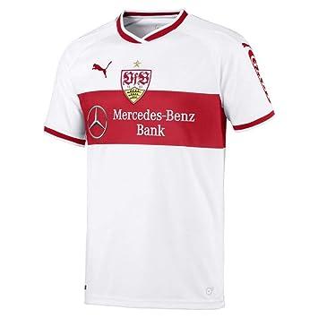 Puma de fútbol VfB Stuttgart Home Camiseta 2018 2019 Camiseta Mujer Mujeres Blanco Rojo, Medium: Amazon.es: Deportes y aire libre