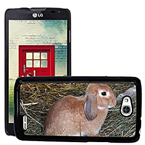 Hot Style Cell Phone PC Hard Case Cover // M00114731 Rabbit Hare Pet Hay Animal Mammal // LG Optimus L90 D415