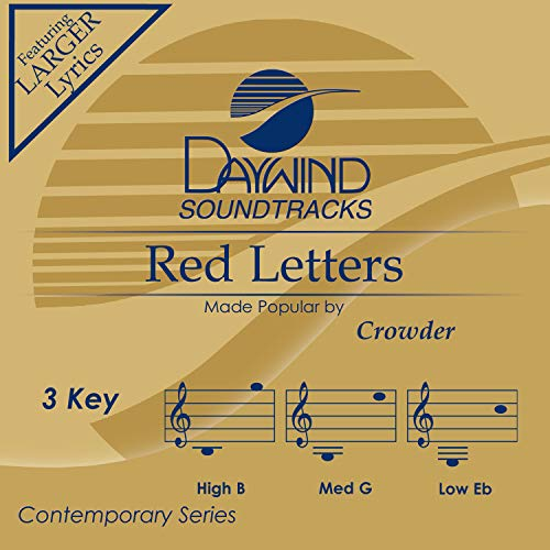 Red Letters [Accompaniment/Performance Track]