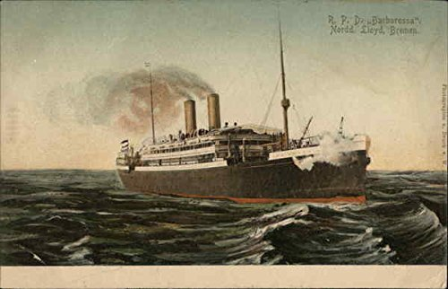 Barbarossa Ship - R. P. D. Barbarossa. Nordd. Lloyd, Bremen. Boats Ships Original Vintage Postcard