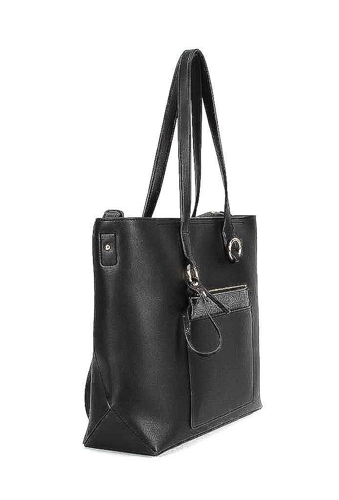 ddb3879461 Angkorly - Handbags   Shoulder Bags Shoppings Cross-body Tote bag Tote bag  smooth leather modern Ring detail Shopper school women trendy elegant fancy  Gift ...