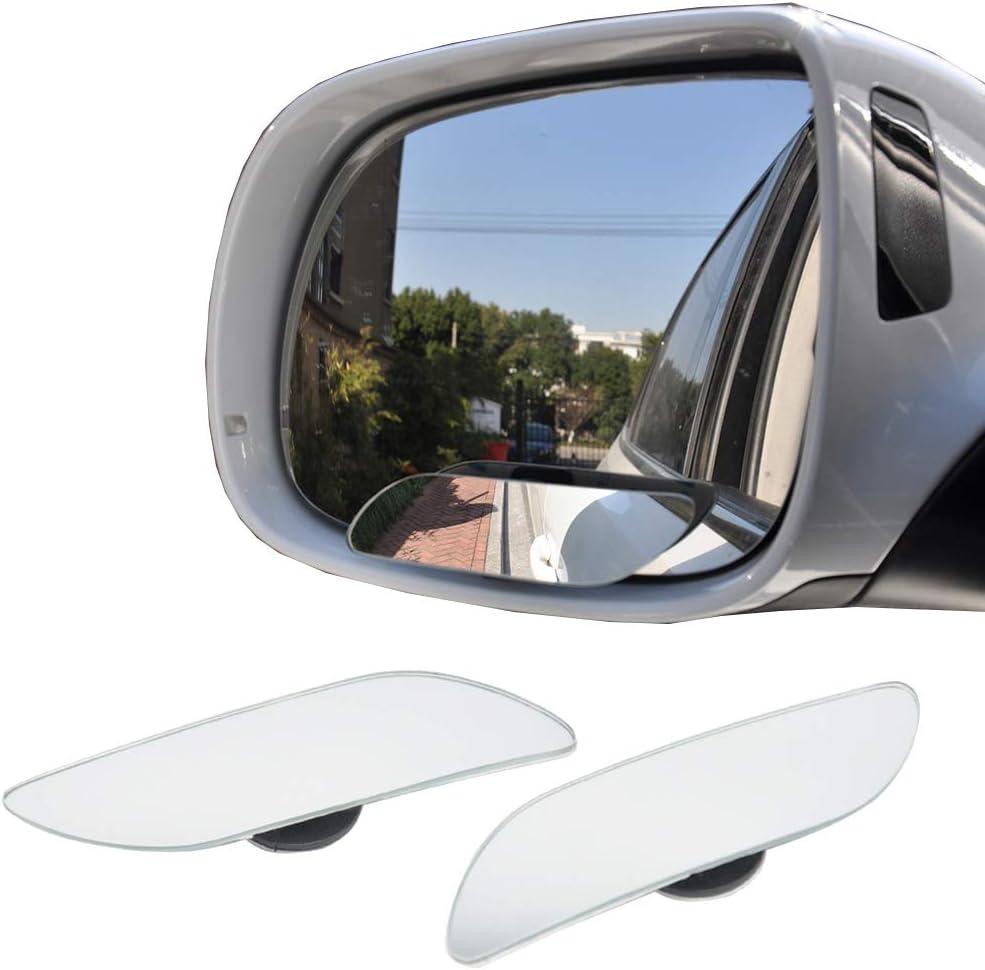 Greatangle R/étroviseur Automatique HD sans Bordure Petit Miroir Circulaire Verre 360 degr/és r/églable Angle Mort Miroir Argent OPP Sac Emballage