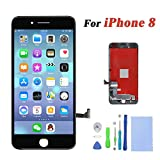 Screen Replacement For iPhone 8 LCD Display & Touch Screen Digitizer Replacement Full Assembly Set with 3D Touch and Free tools (Black)