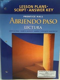 Amazon abriendo paso gramatica teachers edition gramatica lesson plans script answer key for abriendo paso lectura paperback fandeluxe Choice Image