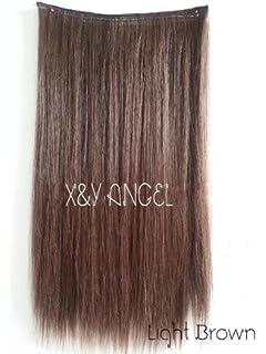 Uniwigstm dark purple color clip in hair extension 60cm length xy angel two tone one piece straight synthetic thick hair extension clip on hairpieces h003 pmusecretfo Images