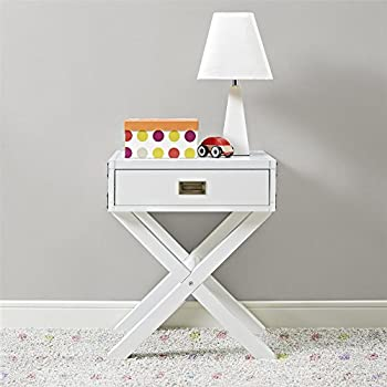 Image of Dorel Living Miles Nightstand, White