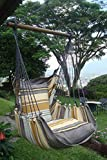 fauteuil hamac / Siège suspendu diverses couleurs au choix- HOBEA-Germany, Größe Hängesessel:L (bis 120kg belastbar);Farben Hängesessel:Toffee