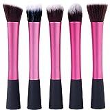 Youngman 5 Pcs Powder Blush Foundation Contour Makeup Brushes Set Cosmetic Tool