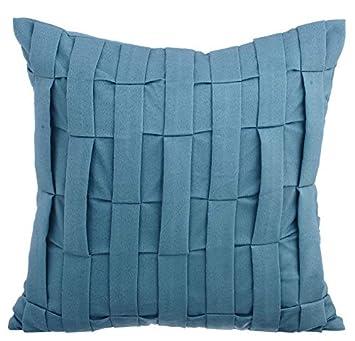 azul apagado fundas de cojines, Con textura alforzas Color ...