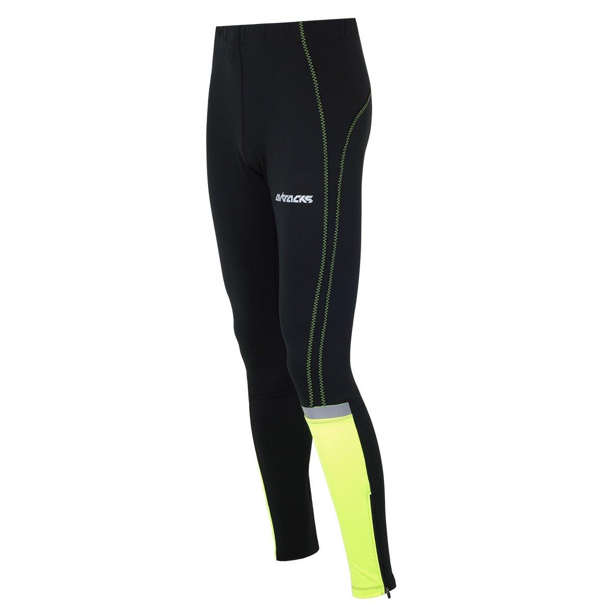AIRTRACKS funktions Pantalon de Course Longue Fluo/Running Collant Thermique/Respirant/réflecteurs