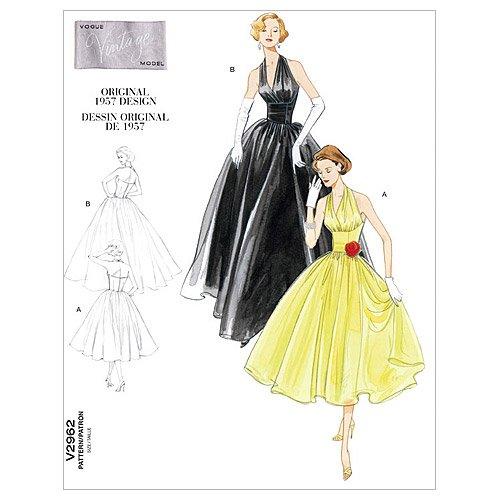 Vogue Patterns V2962 Misses' Dress, Size DD (12-14-16-18) (Gown Vogue Patterns Evening)