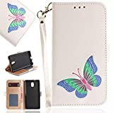 Nokia 3 Case, UNEXTATI Butterfly Embossing Design PU...